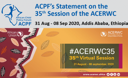 ACPF's Statement on the 35th Session of the ACERWC